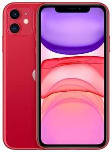 Apple iPhone 11 64gb красный + Беспроводные наушники Jays x-Five Wireless white + тарифный план Yota + 3000 баллов Я.Плюс