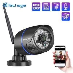 Беспроводная IP-камера Techage 1080P с поддержкой Wi-Fi, TF-карты, Аудиозапись