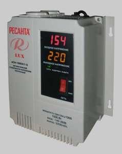Стабилизатор РЕСАНТА LUX АСН-1000Н/1-Ц (1 кВт)