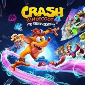 Новогодняя распродажа в PlayStation Store (например, Crash Bandicoot 4)