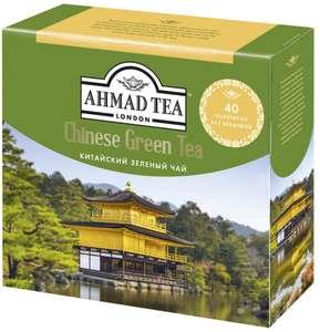 Китайский зеленый чай Ahmad Tea в пакетиках, 40 шт