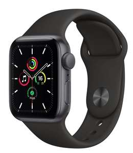 Часы Apple Watch SE GPS 40мм корпус из алюминия серый космос + ремешок черный (MYDP2RU/A)