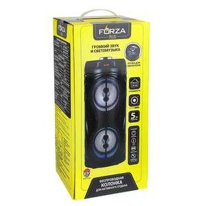 Колонка беспроводная FORZA со светомузыкой, 2400мАч, 10Вт, AUX, USB, черный матовый