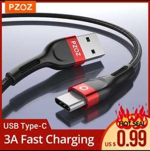 USB type C кабель PZOZ 3A, 2 метра (+другие варианты длины)