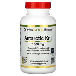 Масло антарктического криля California Gold Nutrition с астаксантином, 1000 мг, 120 капсул