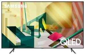 "Телевизор QLED Samsung QE65Q70TAU 65"" (2020) серый титан"