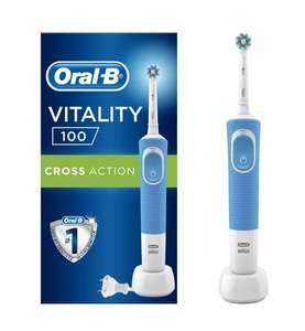 Электрическая зубная щетка Oral-B Vitality 100 CrossAction, синий (+ возврат 104 бонуса)