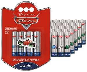 "Батарейка ФОТОН AA/LR6 Disney ""Тачки"" 40 шт блистер"
