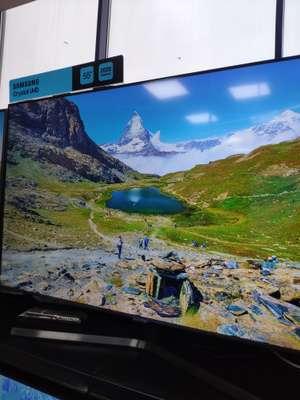 Телевизор LED Samsung UE55TU7560UXRU черный 4K Smart TV