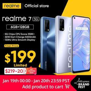 Смартфон realme 7 5G 6+128 гб