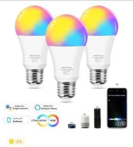 Светодиодная умная лампа 12 Вт E27 RGBW Google home, Amazon, DoHome