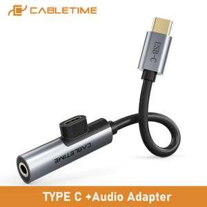 Адаптер кабель CABLETIME USB C to AUX 3,5