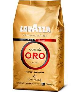Кофе в зернах Lavazza Qualita Oro, арабика, 1000 г + 468 баллов на Яндекс.Плюс