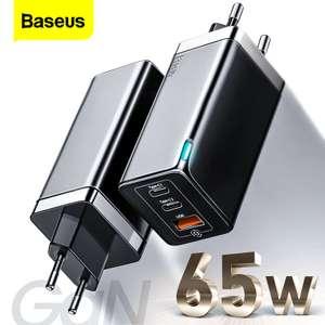 Baseus GaN 65W зарядное usb-устройство c QC и PD