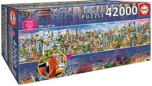 "Educa Пазл 42000 деталей ""Вокруг Света"" размер: длина 157см , ширина 749см."