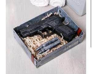"""Набор """"23 Февраля"""" мыло пистолет, мыло пуля"""