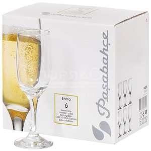 Набор бокалов для шампанского Pasabahce Bistro 190 мл 6 шт (+ для коньяка в описании)