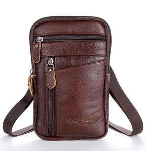 Мужская поясная сумка из натуральной кожи Tilorraine