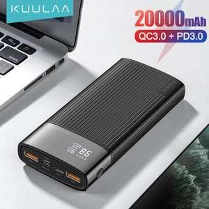 Внешний аккумулятор KUULAA Power Bank 20000