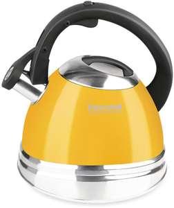 Металлический чайник RONDELL Sole, 3л, желтый