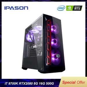 Настольный компьютер IPASON (i7 9th Gen 9700 k/Z390/DDR4 16G ram/500G m.2 + 2T SSD/RTX2080 8G)