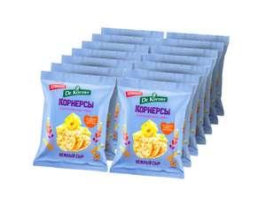 Чипсы цельнозерновые кукурузно-рисовые Dr. Korner с сыром, 50г х 14 шт