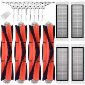 Запчасти для робота xiaomi 2 roborock s50, основная щетка 4 шт., боковая щетка 8 шт., HEPA-фильтр 4 шт.