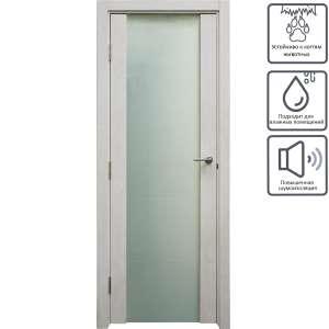 [Мск, МО] Дверь межкомнатная остеклённая Техно 80x200 см цвет дуб светло-серый (в описании 200x60 и 200x70 см)