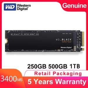 512 ГБ NVME SSD M.2 Western Digital Black SN750 3400/2600MB/s