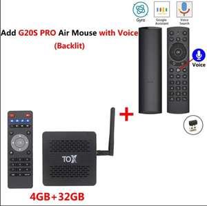 ТВ-приставка TOX1 Amlogic S905X3 4+ 32 Гб + аэромышь G20S PRO