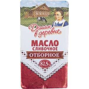 Масло Домик в деревне сладко-сливочное 82.5% БЗМЖ, 180 г