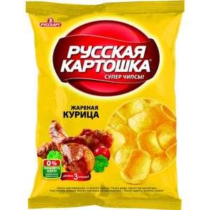 Чипсы Русская картошка (1+1) сметана и укроп / курица 80 г