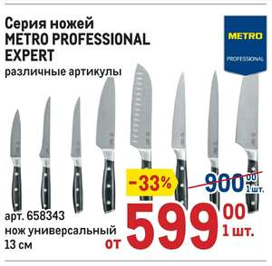 Кованые ножи Metro Professional Expert сталь 5Cr15MoV