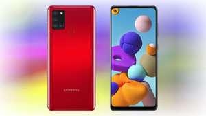 Смартфон Samsung Galaxy A21s 4+64 Гб (красный)