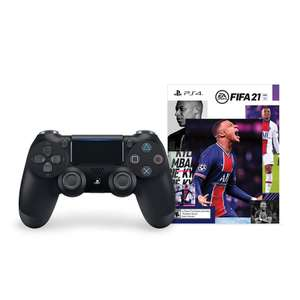 Геймпад PlayStation Dualshock v2, черный + FIFA 21