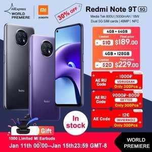 Смартфон Xiaomi Redmi Note 9T 5G 4+64 Гб