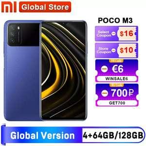 Смартфон Xiaomi POCO M3 Global 4+64/4+128Gb