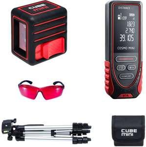 Лазерный уровень ADA Cube MINI Prof Edition + Дальномер Cosmo Mini 40 + Очки Visor RED
