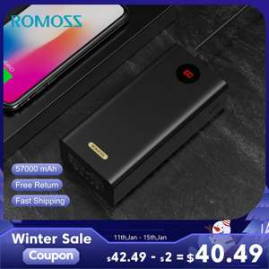 Внешний аккумулятор на 57Ah от Romoss (PEA57)