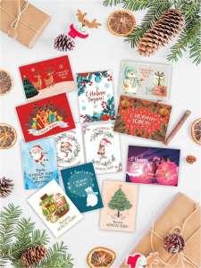 Набор из 12 поздравительных открыток на следующий Новый Год Марусяпуся