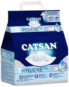 Catsan наполнитель для кошек минеральный впитывающий гигиенический 10 л