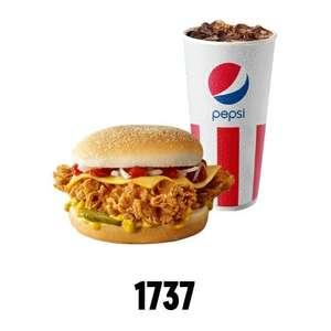 Чизбургер + холодный напиток 0.3л