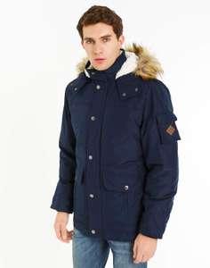 [не везде] Синяя куртка «АЛЯСКА» с мехом