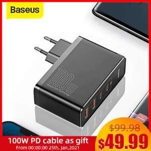 GaN зарядное устройство Baseus 100W