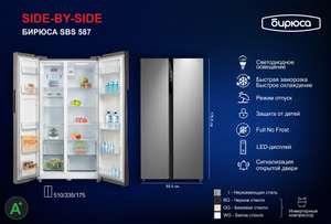[Москва и МО] Холодильник Бирюса SBS 587 WG (инверторный компрессор Midea)