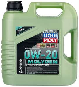 Синтетическое моторное масло LIQUI MOLY Molygen New Generation 0W-20 4 л
