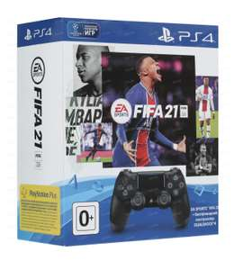 [PS4/PS5] Геймпад PlayStation Dualshock 4 Black Ver.2 для PS4/PS3/PC черный + FIFA 21 Диск (PS4/PS5)