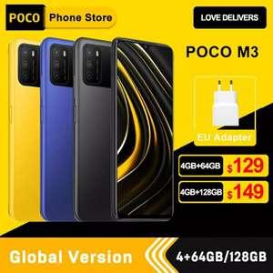 Смартфон Xiaomi POCO M3 Global 4+64gb (магазин без отзывов, есть риск, что товар не отправят)