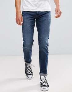 Синие джинсы слим Lee Jeans Arvin за 4890р. + доставка бесплатно.