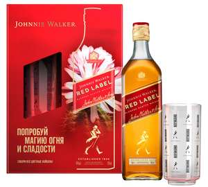 Виски Red label 0.7л + стакан
